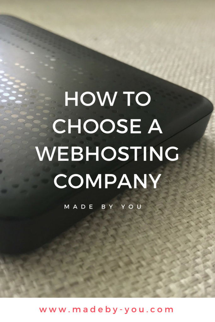 Made By You - Blog post - Technique - How to choose a webhosting company - Pinterest Post