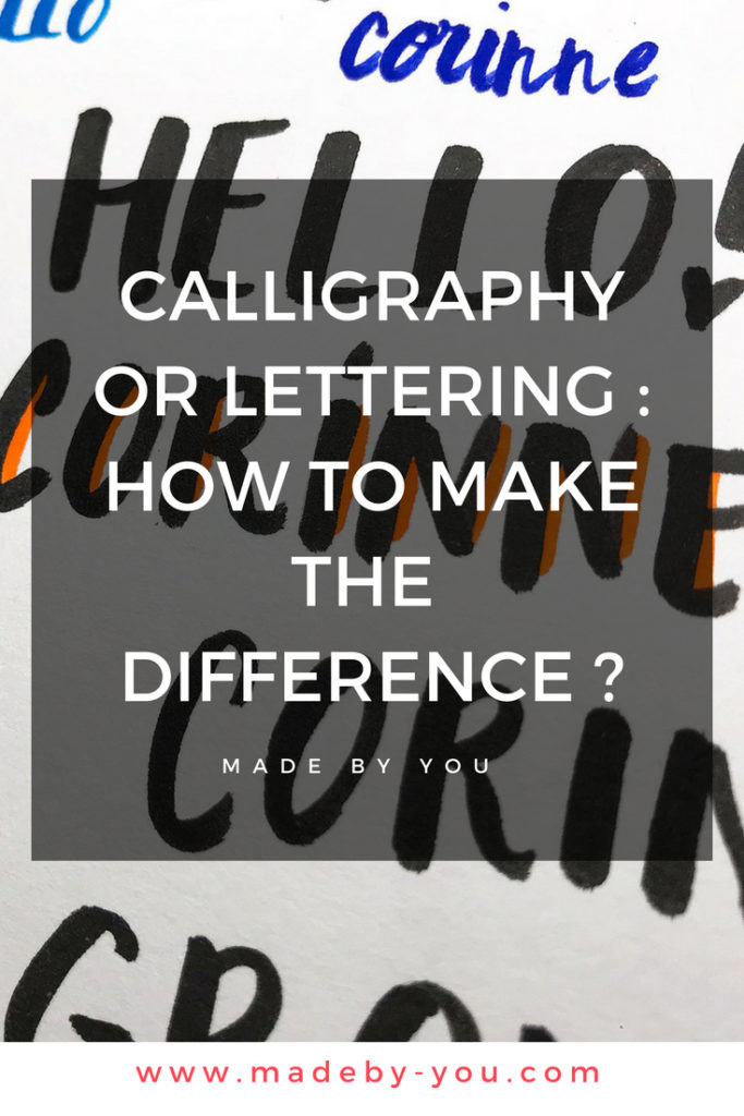 Made By You - Article blog - Have a break - calligraphy or lettering - Pinterest Post