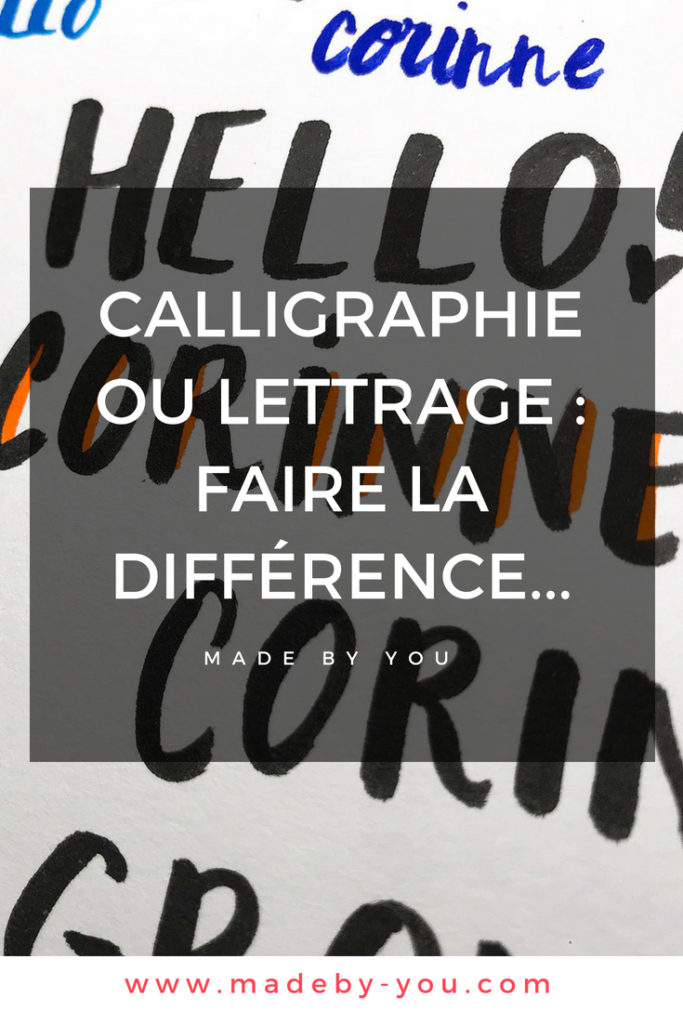 Made By You - Article blog - Have a break - calligraphie ou lettering - Pinterest Post