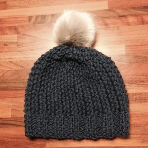 Made By You - blog post - knitting for coming out of the mist - navy beanie