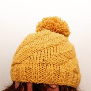 Made By You - blog post - knitting for coming out of the mist - yellow beanie