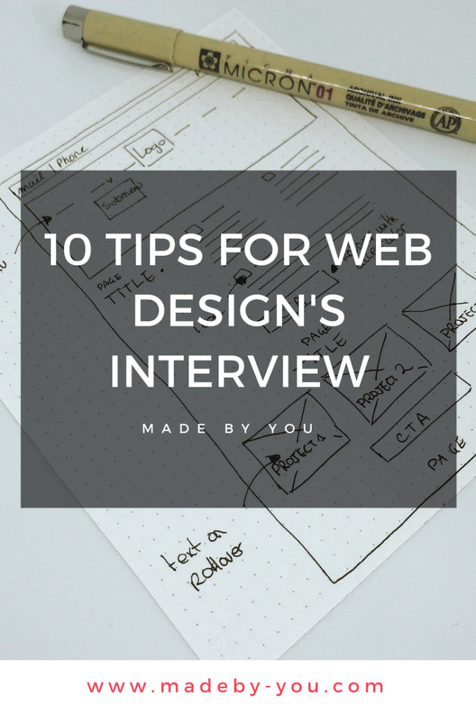 Made By You - Article blog -Have a break - 10 tips for web design's interview Pinterest Post